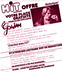 original flyer de GOMINA Rock opéra, photo de Gérard Chambre