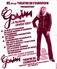 original flyer de GOMINA premier Rock Opéra - photo de Yvonne Mestre