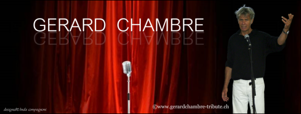 Banner with photo of Gérard Chambre- created by Linda