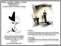 flyer Cocteau Guitry avec photo de Gérard Chambre