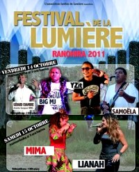 flyer of Festival de la Lumière at Ranohira 2011
